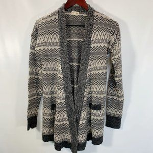 Maison Jules Sweater Cardigan Open Front Sequin Si